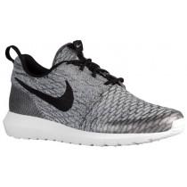 Nike Performance Roshe One Flyknit - Men's Trainers - Wolf Grey/Black/White