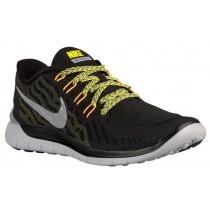 Nike Free 5.0 - Black/Metallic Silver/Anthracite/Sonic Yellow - Men's Trainers