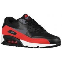 Nike Air Max 90 Essential - Dark Grey/Black/University Red - Men's Trainers