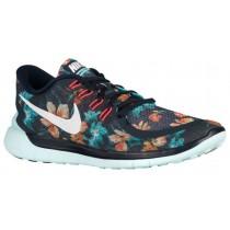 Nike Performance Free 5.0 - Men's Lightweight Running Shoes - Dark Obsidian/White/Teal Tint/Hot Lava