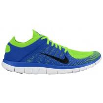 Nike Free 4.0 Flyknit - Men's Training Shoe - Game Royal/Black/Electric Green/White