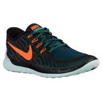 Nike Performance Free 5.0 - Men's Running Shoe - Black/Total Orange/Light Retro
