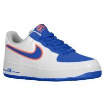 Nike Air Force 1 Low - Men's Casual Shoes - White/Game Royal/Turf Orange