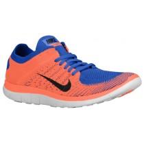 Nike Performance Free 4.0 Flyknit - Game Royal/Hyper Crimson/Black - Men's Lightweight Running Shoes