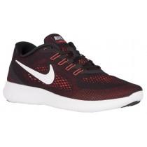 Nike Free RN - Men's Training Shoe - Black/Total Orange/Night Maroon/Off White