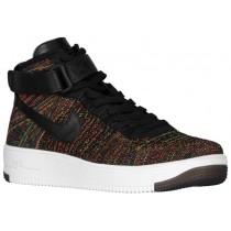 Nike Air Force 1 Ultra Flyknit Mid - Black/Bright Crimson/Court Purple/Volt - Men's Sneaker