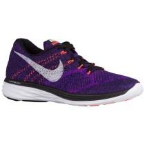 Nike Flyknit Lunar 3 - Men's Shoes - Black/Concord/Vivid Purple/White