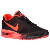 Nike Performance Air Max Sequent - Black/Total Crimson - Men's Shoes
