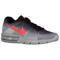 Nike Performance Air Max Sequent - Men's Running Shoe - Metallic Silver/Black/Dark Grey/Bright Crimson