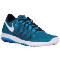 Nike Flex Fury 2 - Men's Running Shoes - Blue Glow/Black/Racer Blue/White