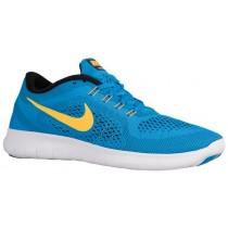 Nike Free RN - Men's Trainers - Heritage Cyan/Black/Blue Spark/Laser Orange