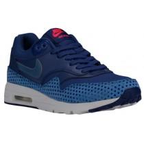 Nike Air Max 1 Ultra Essentials - Dark Purple Dust/Ocean Fog/Blue/Crimson/White - Ladies Running Shoes