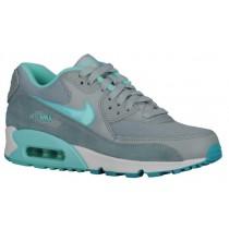Nike Sportswear Air Max 90 - Women's Running Shoes - Silver Wing/Dusty Cactus/Aviator Grey/Hyper Turq