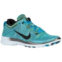 Nike Free TR 5 Flyknit - Ladies Running Shoe - Blue Lagoon/Black /Copa/Glacier Blue