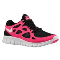 Nike Performance Free Run + 2 - Women's Running Shoe - Black/White/Cherry