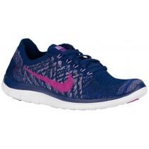 Nike Performance Free 4.0 Flyknit - Women's Running Shoe - Brave Blue/Fuchsia Glow/Game Royal