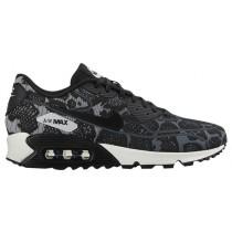 Nike Air Max 90 Jacquard - Women's Trainers - Dark Grey/Pure Platinum/Summit White/Black