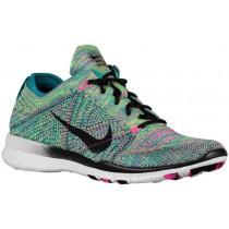 Nike Free TR 5 Flyknit - Radiant Emerald/Pink Pow/Black - Women's Running Shoe