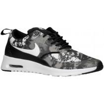Nike Sportswear Air Max Thea Print - Women's Running Shoes - Black/Dark Grey/White