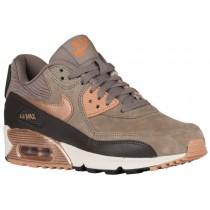 Nike Sportswear Air Max 90 Leather - Iron/Metallic Red Bronze/Dark Storm/Sail - Women's Running Shoes