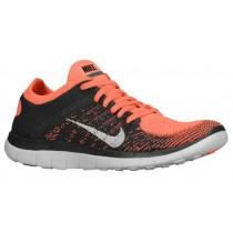 Nike Performance Free 4.0 Flyknit - Ladies Training Shoe - Bright Mango/Midnight Fog/White
