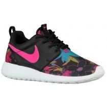 Nike Performance Roshe One Print Premium - Ladies Shoe - Black/Sail/Pink Foil