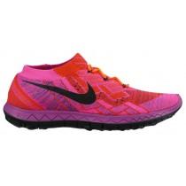 Nike Performance Free 3.0 Flyknit - Hyper Orange/Vivid Purple/Pink Foil/Black - Ladies Training Shoe