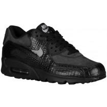 Nike Sportswear Air Max 90 - Black/Metallic Silver/Volt/Black - Women's Running Shoes