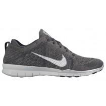 Nike Free TR 5 Flyknit - Dark Grey/Pure Platinum/Metallic Silver - Women's Running Shoe