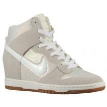 Nike Dunk Sky Hi Premium/Wedge - Met Luster/Sail/Gum Med Brown - Women's Sneaker