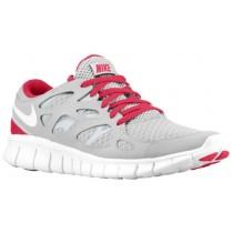 Nike Performance Free Run + 2 - Women's Running Shoe - Tech Grey/White/Cerise/Neutral Grey