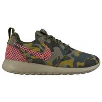 Nike Roshe One Premium Plus - Women's Training Shoe - Black/Hot Lava/Carbon Green/Desert Camo