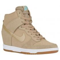 Nike Dunk Sky Hi Essential - Women's Shoes - Desert Camo/Sail/Gum Med Brown