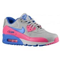 Nike Air Max 90 - Lt Magenta/Hyper Pink/Pure Plat/Hyper Cobalt - Ladies Trainers