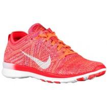 Nike Free TR 5 Flyknit - Bright Crimson/Bright Citrus/Total Orange/White - Women's Running Shoe