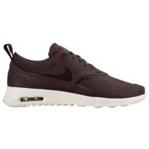 Nike Sportswear Air Max Thea Premium - Mahogany/Team Red/Sail/Mahogany - Women's Running Shoes