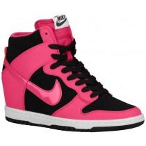 Nike Dunk Sky Hi Essential/Wedge - Women's Shoes - Black/White/Fireberry