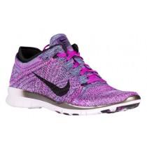 Nike Free TR 5 Flyknit - Vivid Purple/Black/Fuchsia Glow/Light Violet - Women's Running Shoe