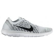 Nike Performance Free 4.0 Flyknit - Women's Training Shoe - Pure Platinum/Black/White