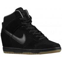 Nike Dunk Sky Hi Essential/Wedge - Women's Sneaker - Black/Light Ash Grey/Gum Dark Brown