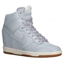 Nike Dunk Sky Hi Essential/Wedge - Women's Shoes - Lt Magnet Grey/Sail/Gum Med Brown
