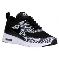 Nike Sportswear Air Max Thea Print - Black/White/Metallic Silver - Women's Trainers