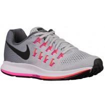 Nike Air Zoom Pegasus 33 - Women's Neutral Running Shoes - Pure Platinum/Cool Grey/Pink Blast/Black