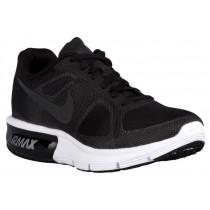 Nike Performance Air Max Sequent - Women's Running Shoe - Black/Wolf Grey/White/Metallic Hematite