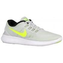 Nike Free RN - Ladies Running Shoe - Pure Platinum/Black/Wolf Grey/Volt
