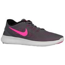 Nike Free RN - Ladies Trainers - Dark Grey/Black/Cool Grey/Pink Blast
