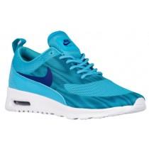 Nike Sportswear Air Max Thea Frequency Print - Women's Running Shoes - Gamma Blue/Deep Royal Blue/White/Rio Teal