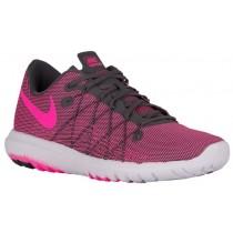 Nike Flex Fury 2 - Dark Grey/White/Pink Blast - Women's Competition Running Shoes