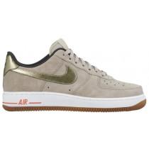 Nike Air Force 1 '07 Low Premium Suede - String/Metallic Gold Grain - Women's Casual Shoes