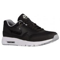 Nike Air Max 1 Ultra Essentials - Black/Wolf Grey/Metallic Silver - Ladies Trainers